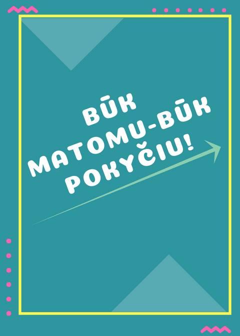"""Kauno rajono savivaldybės jaunimo reikalų taryba organizuoja renginį """"Būk matomu - būk pokyčiu!"""""""