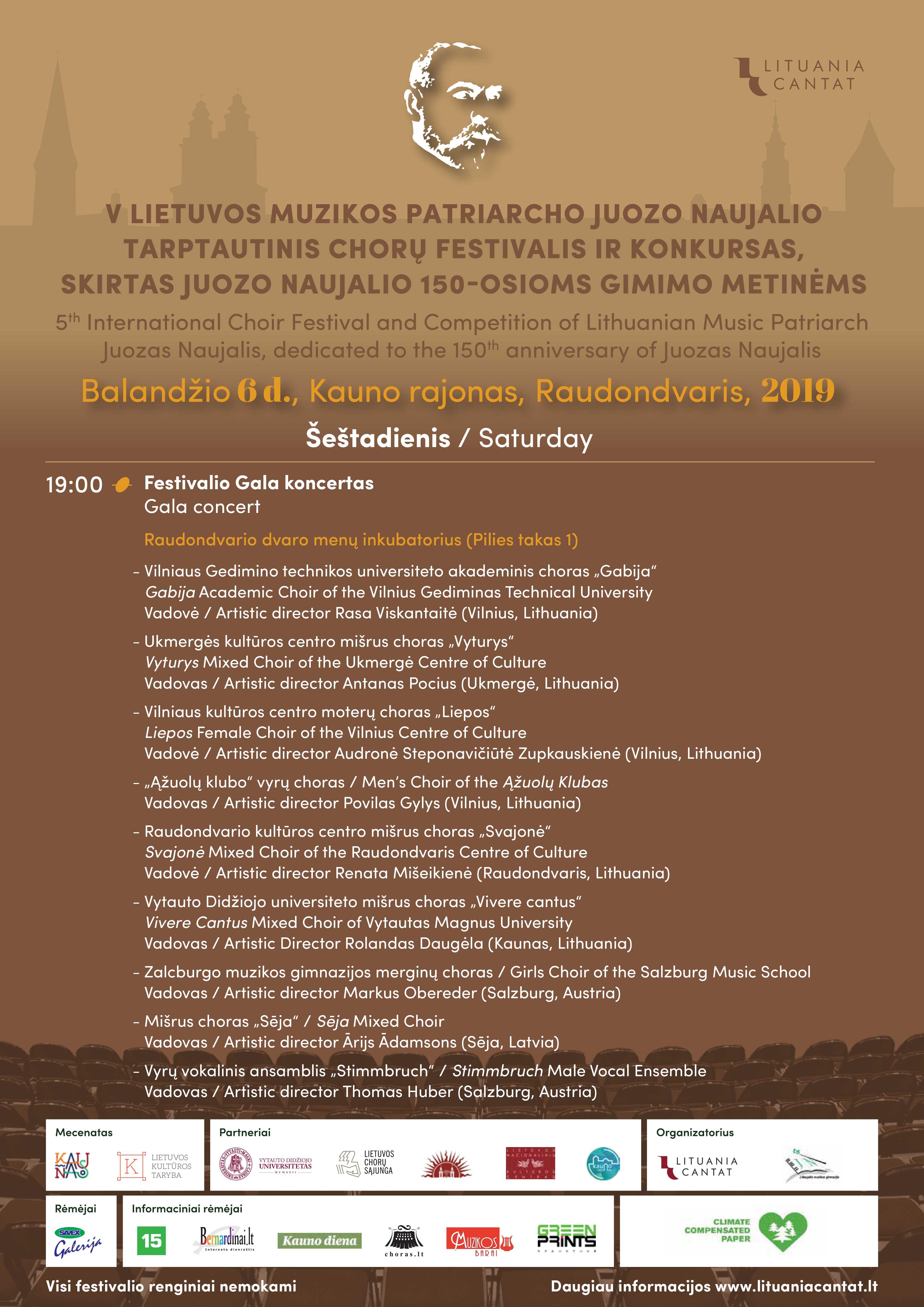 V-ojo Lietuvos muzikos patriarcho Juozo Naujalio chorų tarptautinio festivalio koncertas
