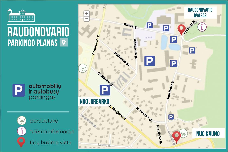 Aktuali informacija apie parkavimo zonas Raudondvaryje liepos 6 d.!