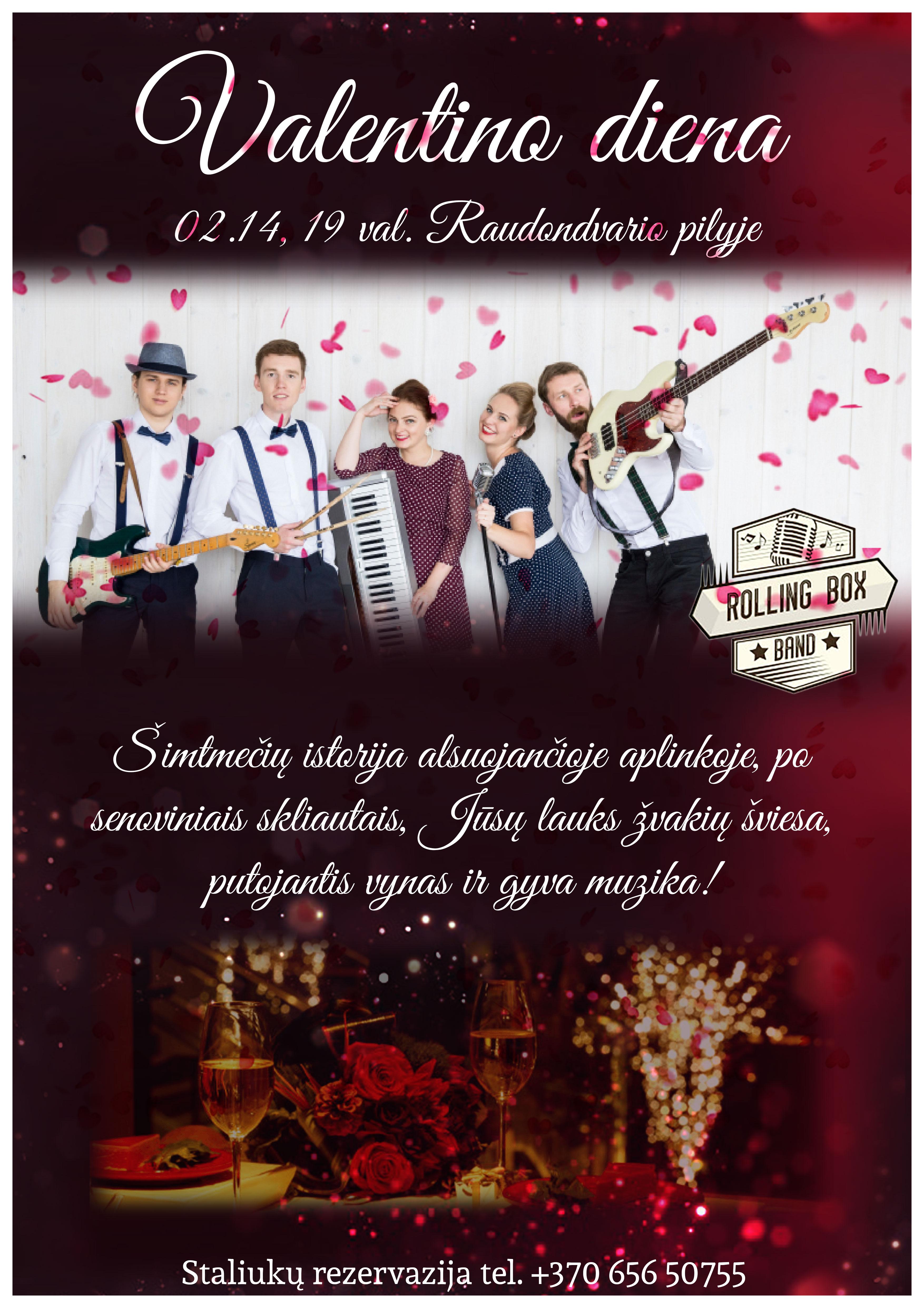 Romantiškas šv. Valentino vakaras Raudondvario pilyje!
