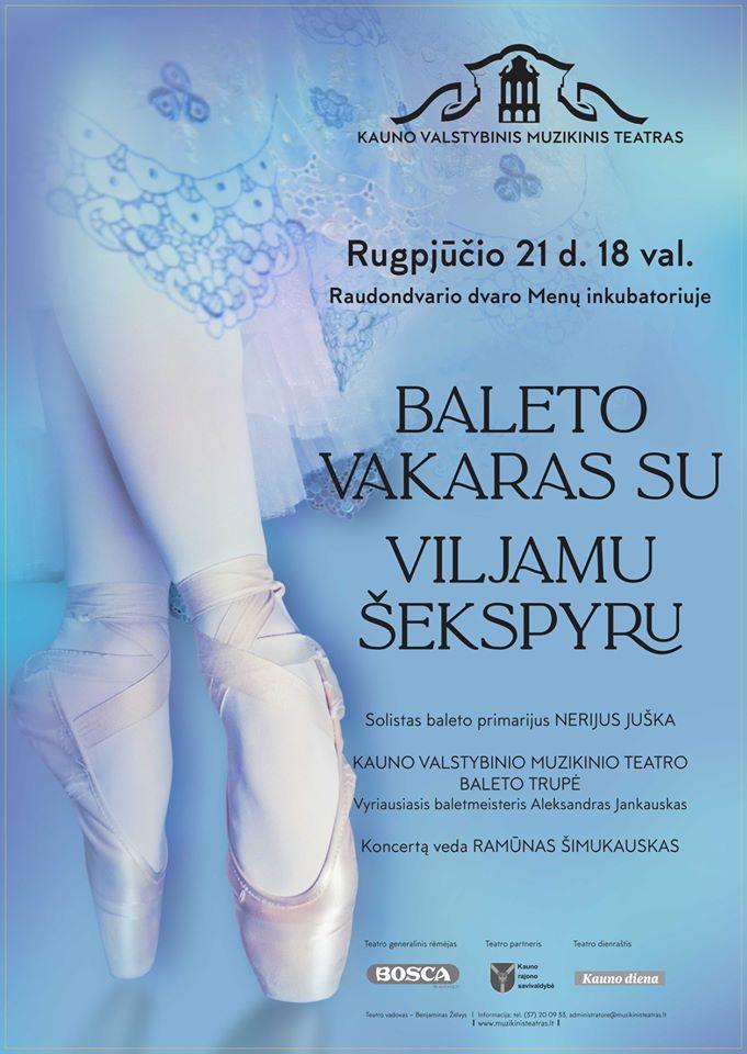 Baleto vakaras su Viljamu Šekspyru!